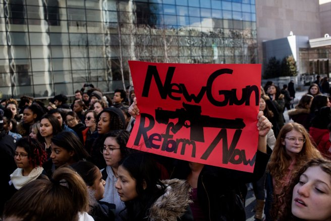 student gun control school walkouts today